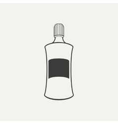 bottle Black and white style vector image