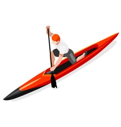 Canoe Sprint 2016 Sports Isometric 3D vector image