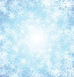 Christmas background with ice effect vector image vector image