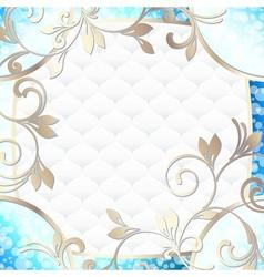 frame in vibrant blue on white vector image vector image
