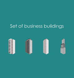 skyscrapers buildings towers city business vector image vector image