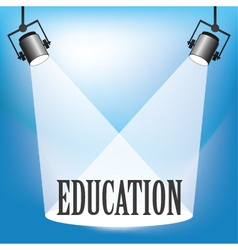 Spotlight Education vector image vector image