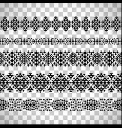 horizontal seamless ethnic pattern set vector image