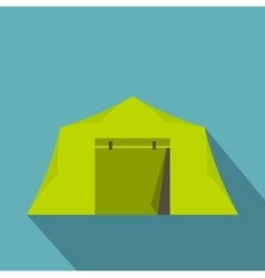 Tent icon flat style vector image vector image
