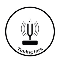 Tuning fork icon vector image vector image