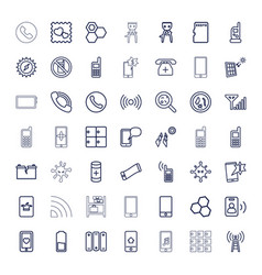 49 cell icons vector