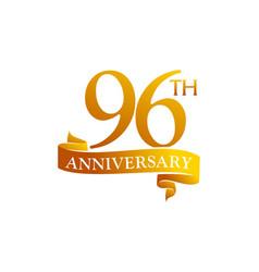 96 year ribbon anniversary vector image