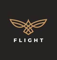 Abstract bird flight logo vector
