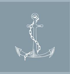 anchor sketch hand drawn vector image