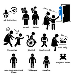 Baby children kid health sickness syndrome vector