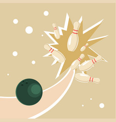 Ball in a bowling alley vector