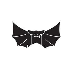 bat black concept icon bat flat vector image