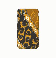 batik phonecase 5 vector image