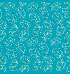 Beautiful tropical leaves seamless pattern vector