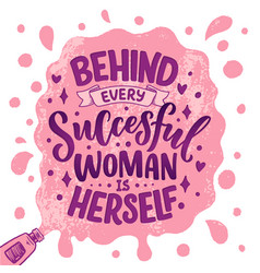Beautiful with lettering about woman vector