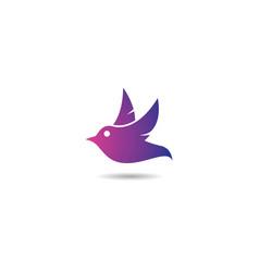 bird symbol vector image