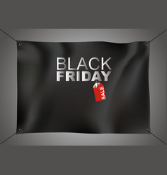 black friday sale design on black fabric vector image