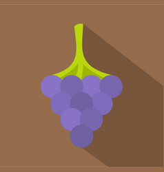 Black grape icon flat style vector