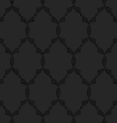 Black textured plastic Islamic grid vector
