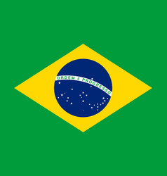 brazilian flag flat layout vector image