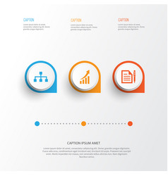 Business icons set collection contract vector