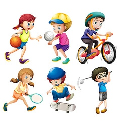 Children and sports vector image