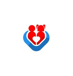 children love care icon logo vector image