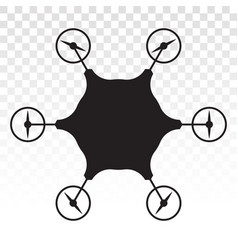 Civilian aerial drone flat icon for apps vector