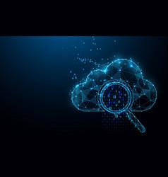 Cloud online storage technology concept big data vector