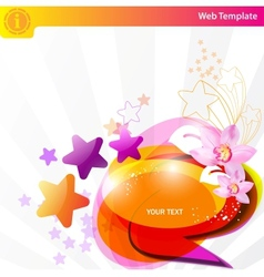 colorful star background vector image