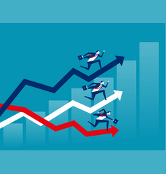 competition business running on diagrams concept vector image