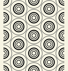 concentric dark blue-black circles on yellow vector image