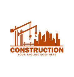 Construction logo design template suitable for vector
