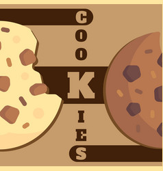 Cookies brown background vector
