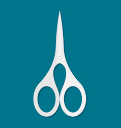 cosmetic scissors for manicure icon flat style vector image