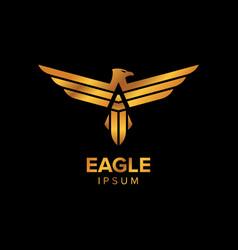 Creative luxury eagle logo design concept design vector
