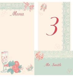 Design in the retro-style menu table number vector