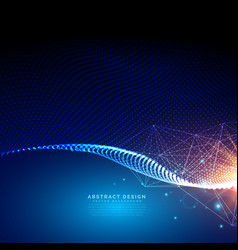 digital futuristic background made with particles vector image