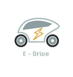 Eco car icon design concept vector