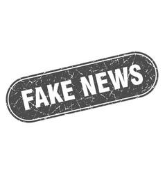 Fake news sign fake news grunge black stamp label vector