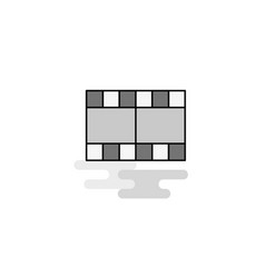 film web icon flat line filled gray icon vector image
