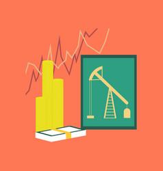 Flat icon on stylish background lesson economy vector