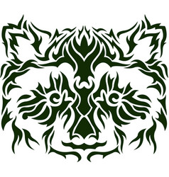 flat pattern with raccoon vector image