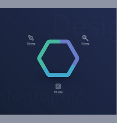 Graphic infographics template for creating web vector