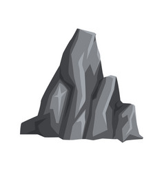 Gray stone with lights and shadows massive vector