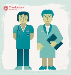 hand drawn doctors vector image