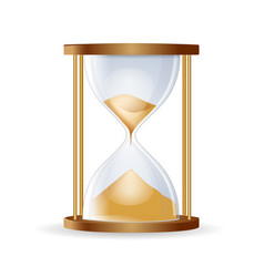 hourglass isolated on white backgroundhighly vector image