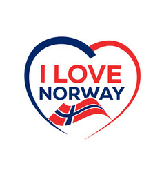 i love norway vector image