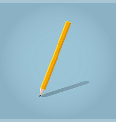 isometric writing pencil vector image