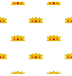 King crown pattern flat vector